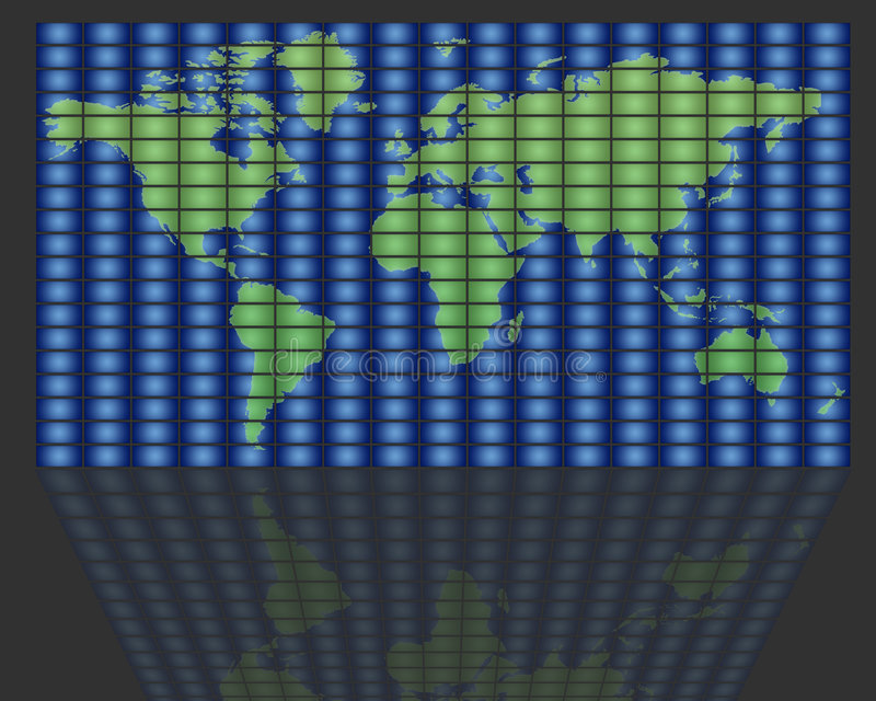 全球电视 库存例证