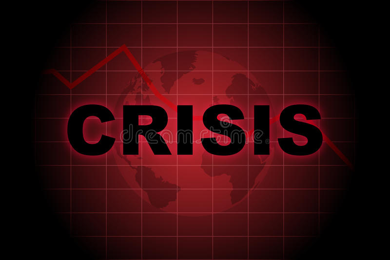 全球的危机 库存例证