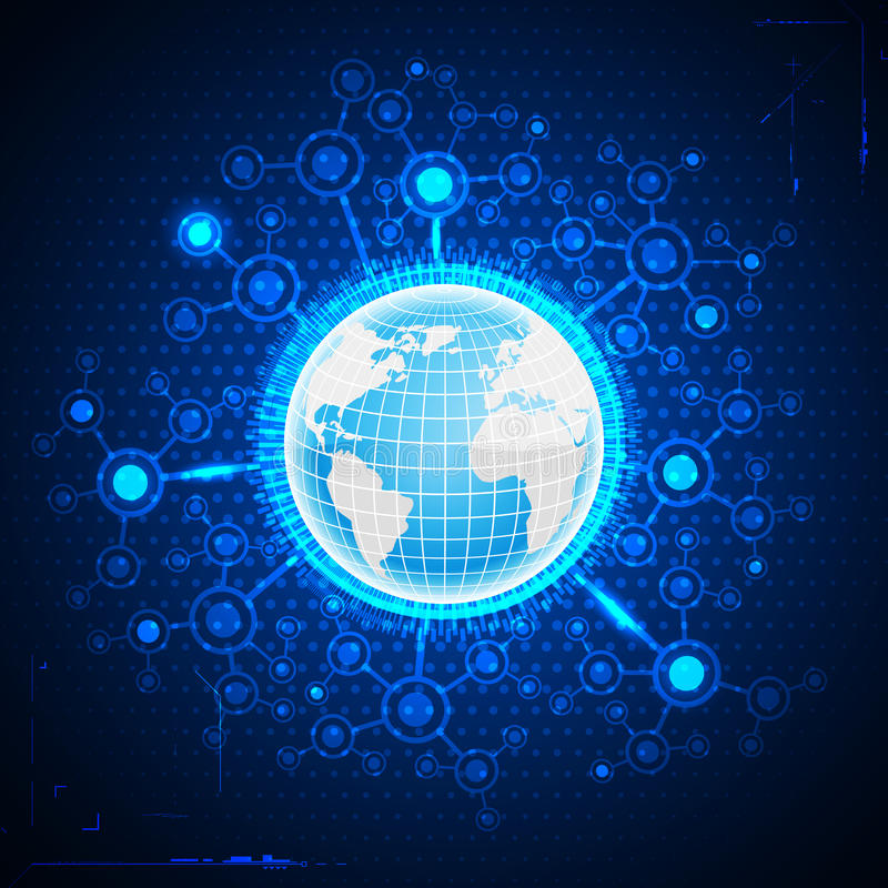 全球的商业 库存例证
