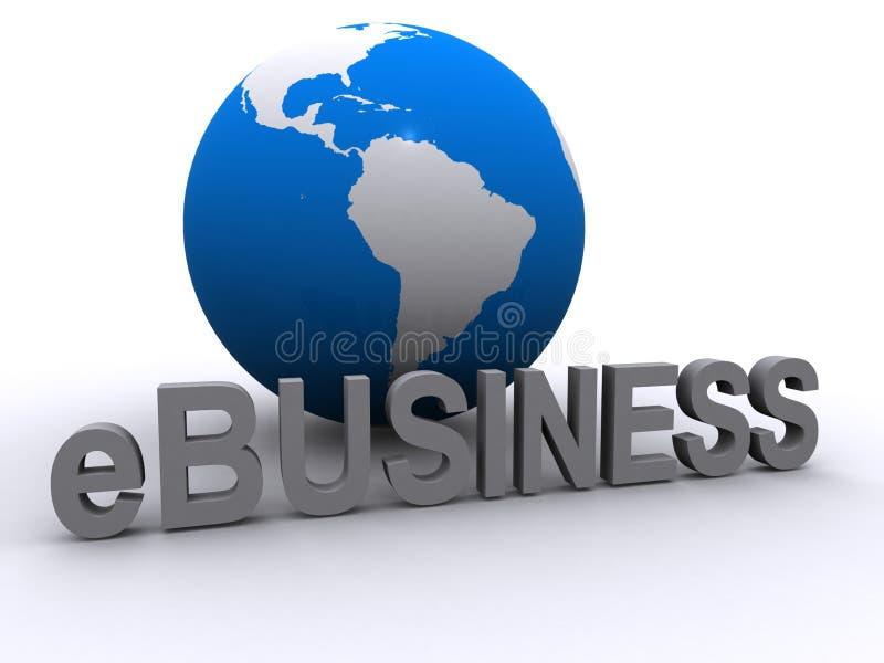全球的商业e 皇族释放例证
