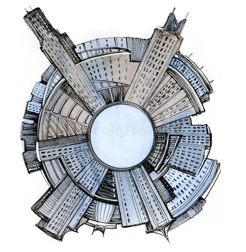 全球的城市 向量例证