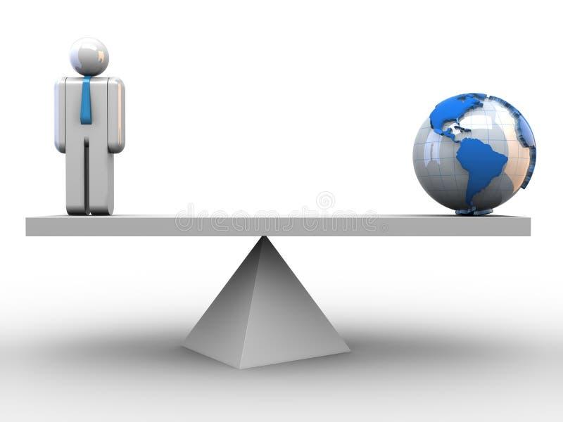 全球的平衡 皇族释放例证