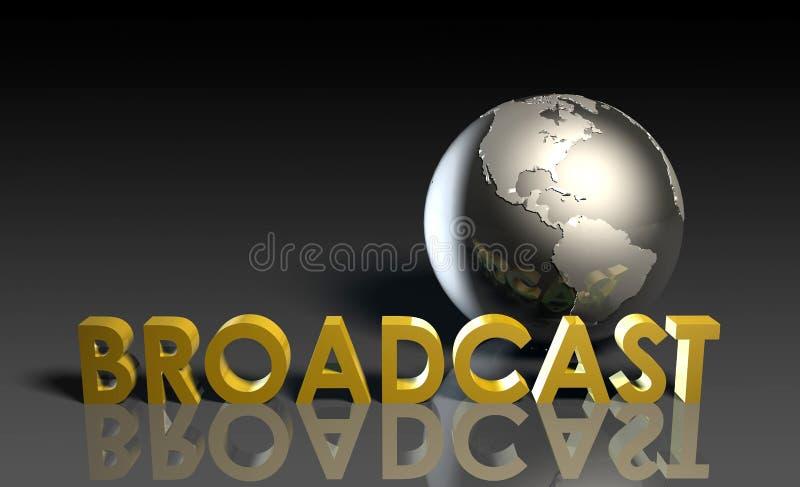 全球的广播 库存例证
