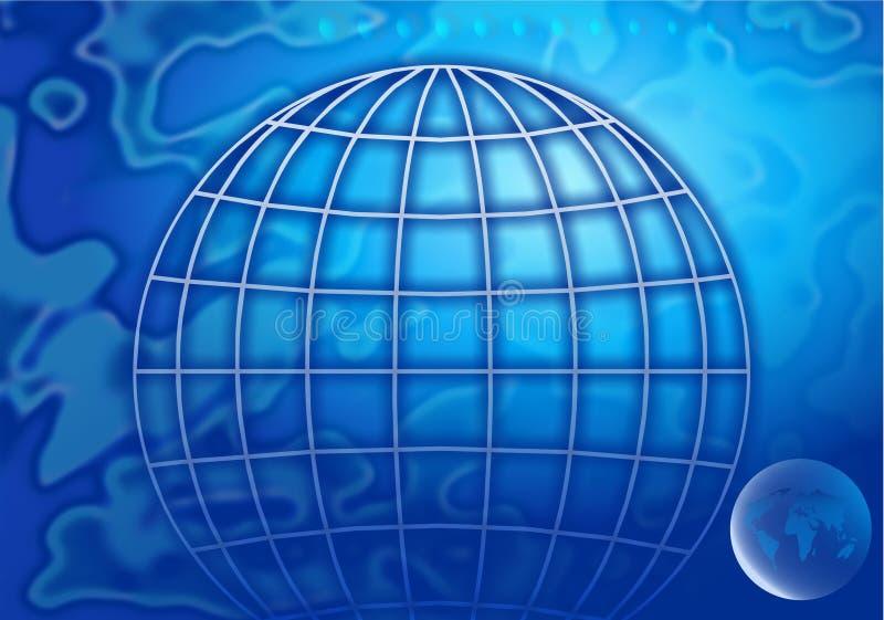 全球的背景 皇族释放例证