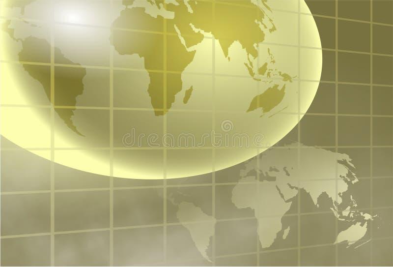 全球的背景 向量例证