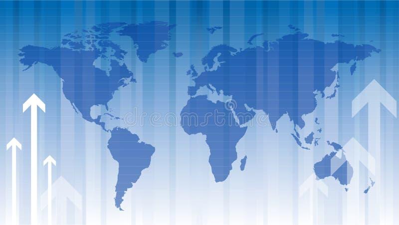 全球的财务 库存例证