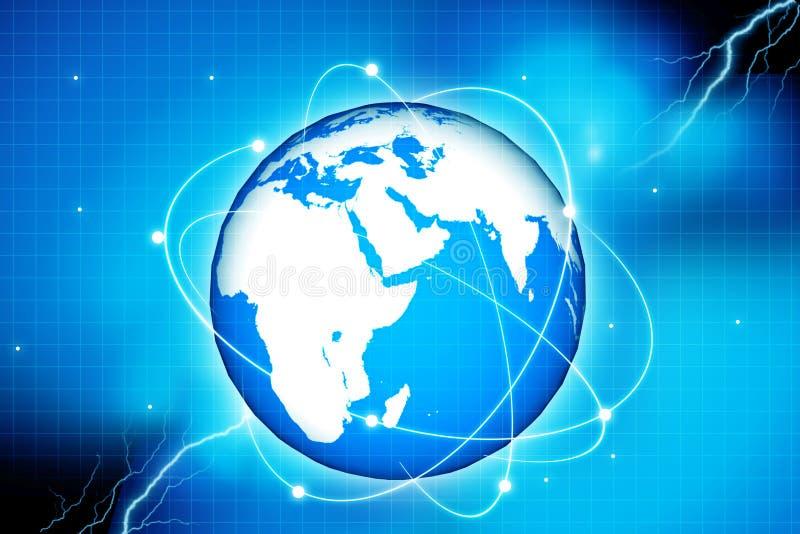 全球的连接数 向量例证