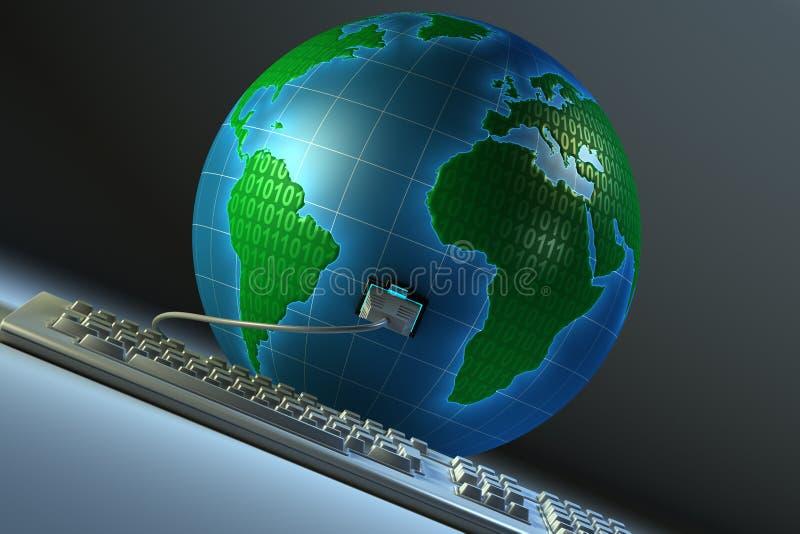全球的连接数 皇族释放例证