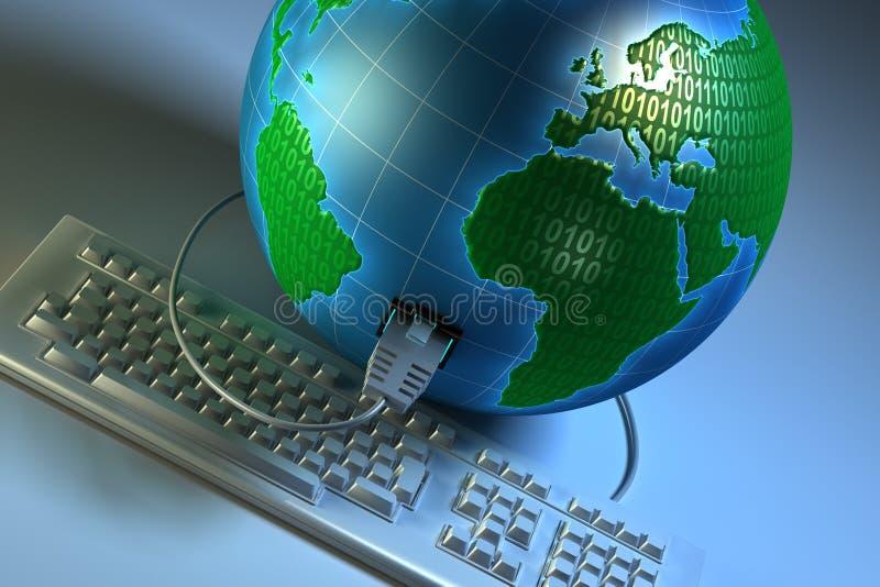 全球的连接数 库存图片