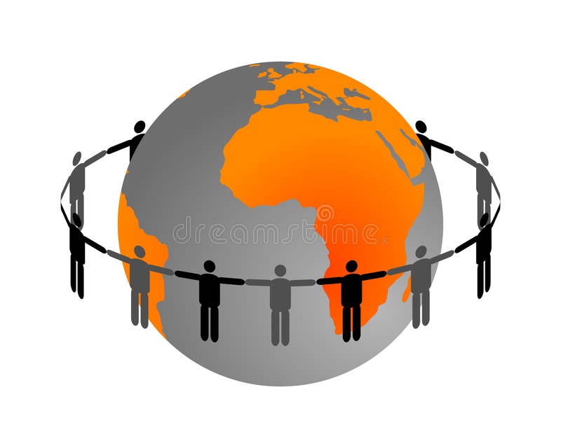 全球的连接数 库存例证
