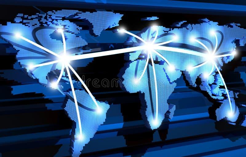 全球的通信 向量例证