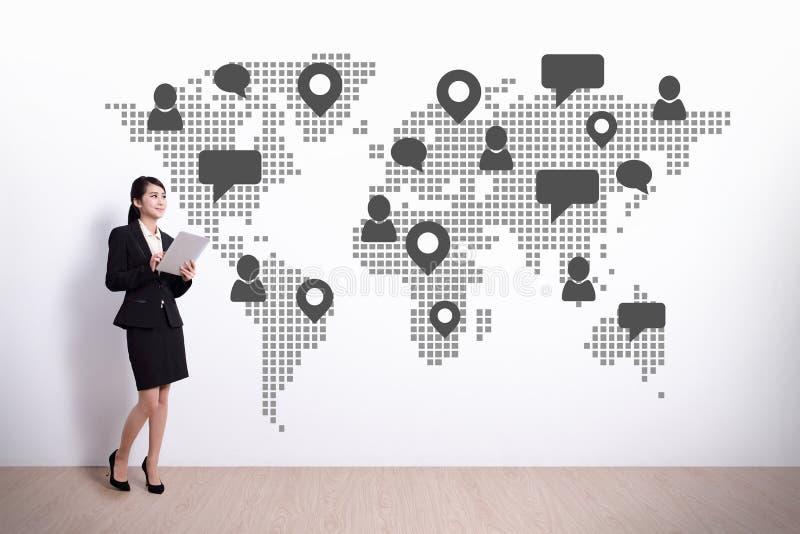 全球社会媒体概念 免版税库存图片
