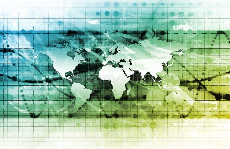 全球管理 库存例证