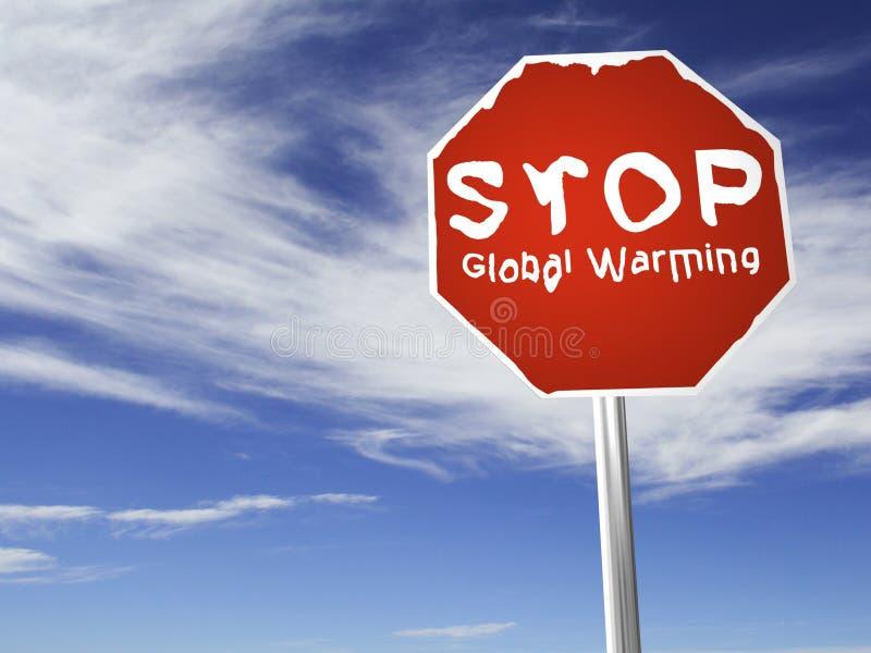 全球终止温暖 向量例证