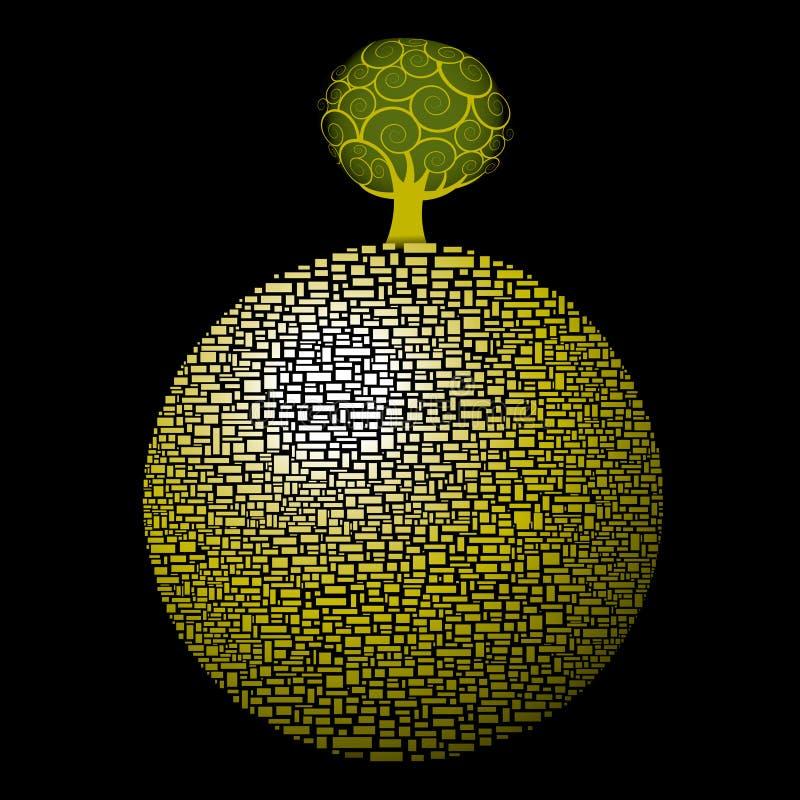 全球结构树 库存例证