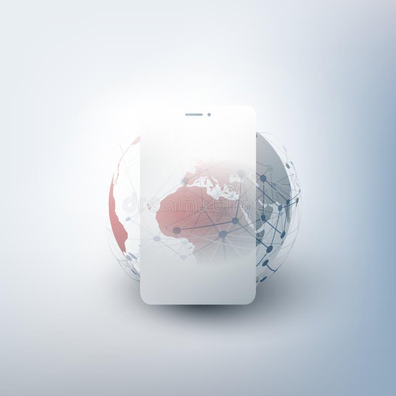 全球网络设计与网络滤网 库存照片