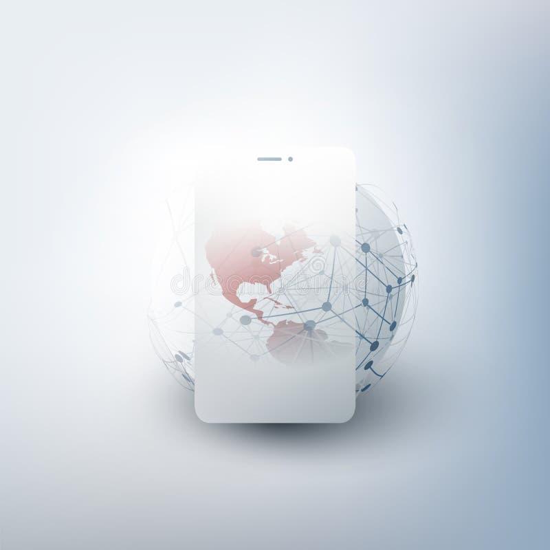全球网络设计 库存图片
