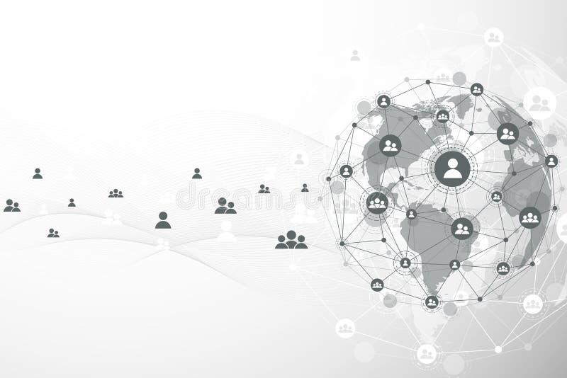 全球网络连接背景 网络安全概念全球企业 互联网通信背景 皇族释放例证