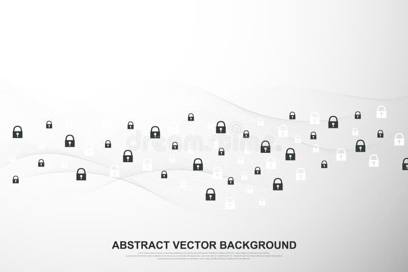 全球网络连接背景 网络安全概念全球企业 互联网通信背景 库存例证