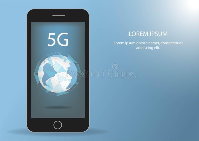 全球网络连接5G互联网高速率 世界点线全世界信息技术数据交换的事务 库存例证