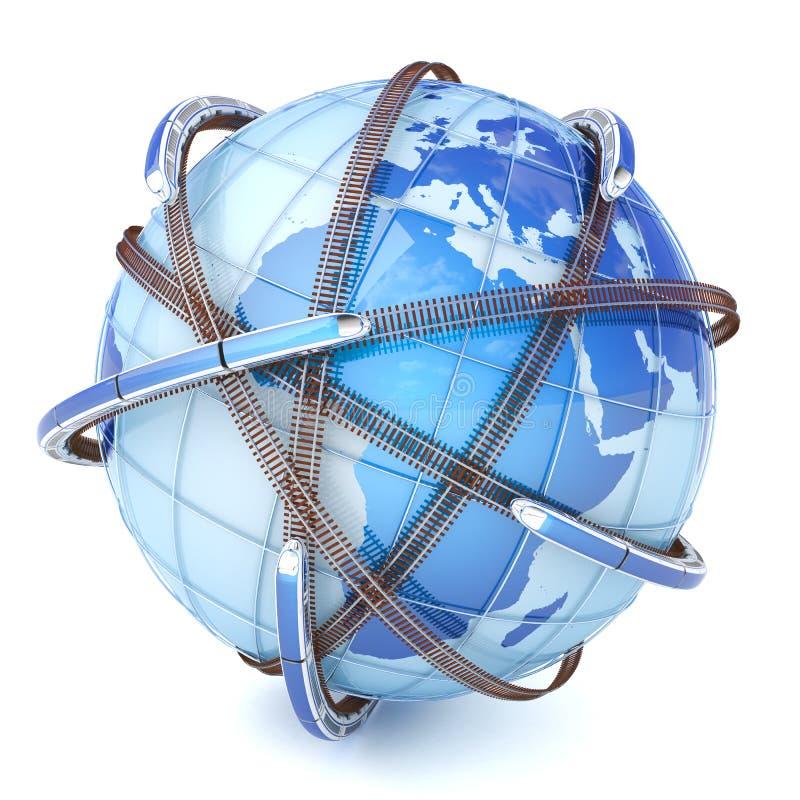 全球网络铁路 向量例证