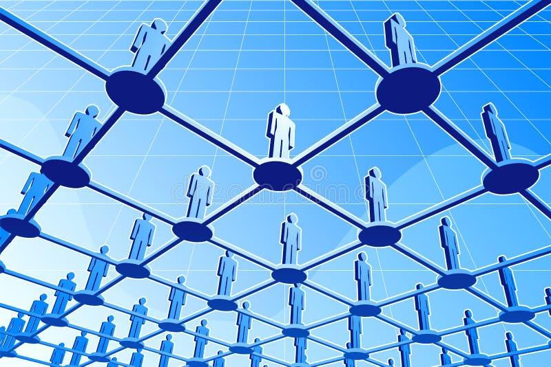 全球网络 向量例证