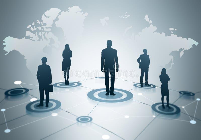 全球网络社交 向量例证