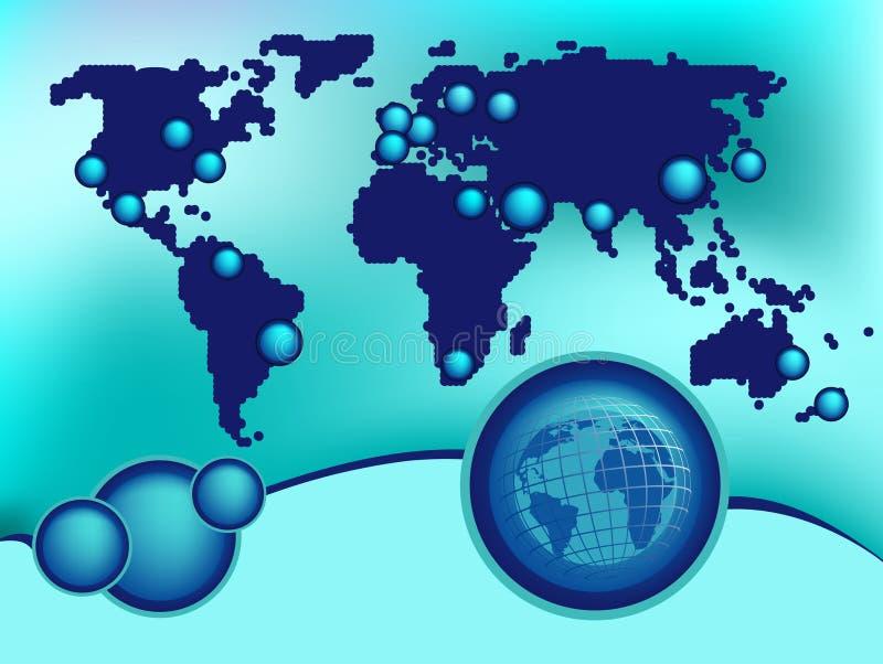 全球背景的设计 向量例证