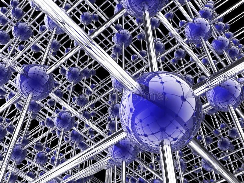 全球背景的连接数 库存例证