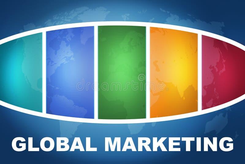 全球营销 库存例证