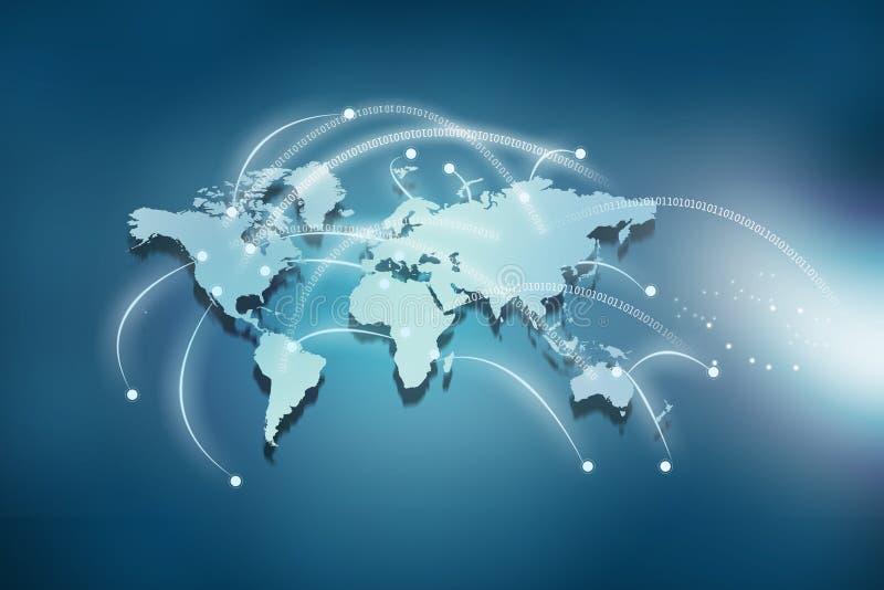 全球连接数的概念 向量例证