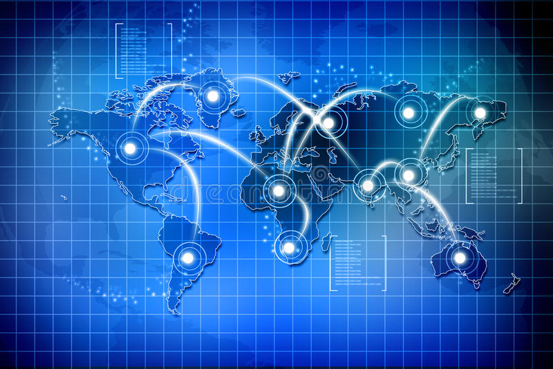 全球连接数 库存例证