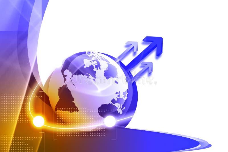 全球连接数 向量例证