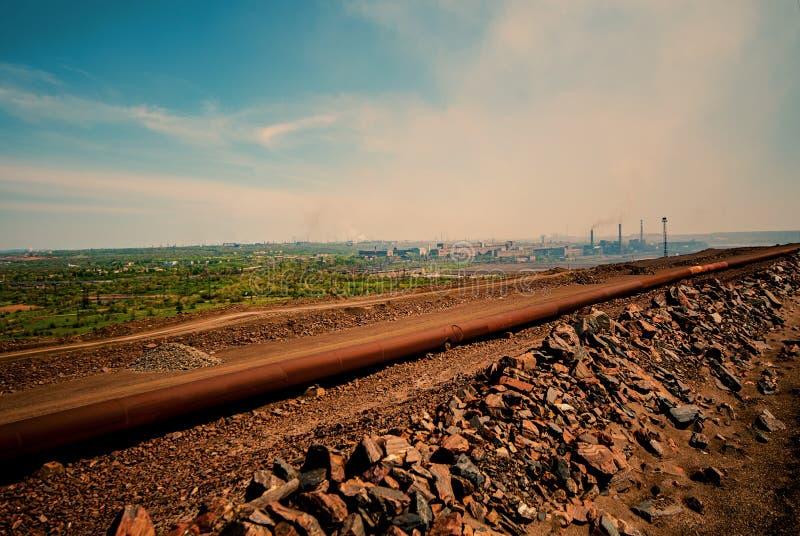 全视图和工业风景 免版税库存照片