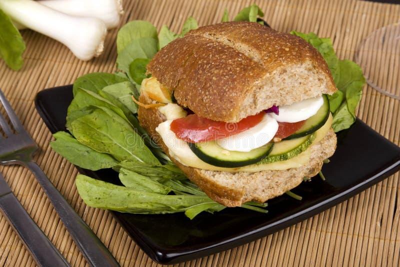 全部做面包的粮谷的三明治 免版税库存照片