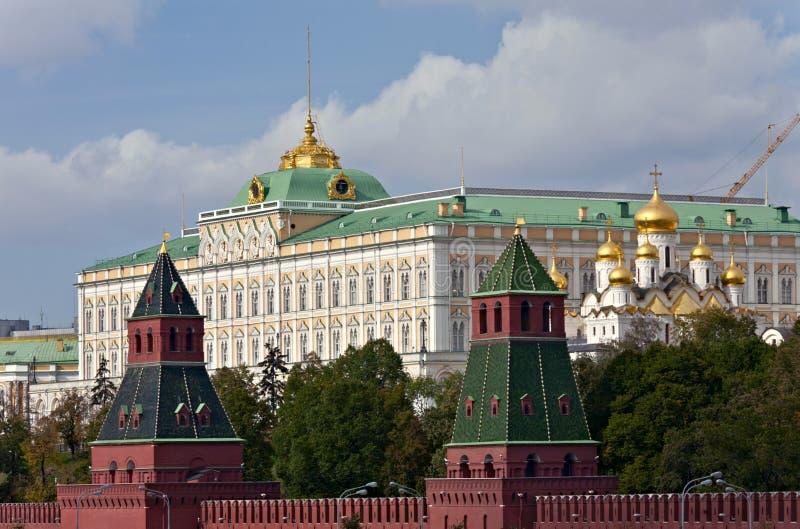 全部克里姆林宫莫斯科宫殿 免版税库存图片
