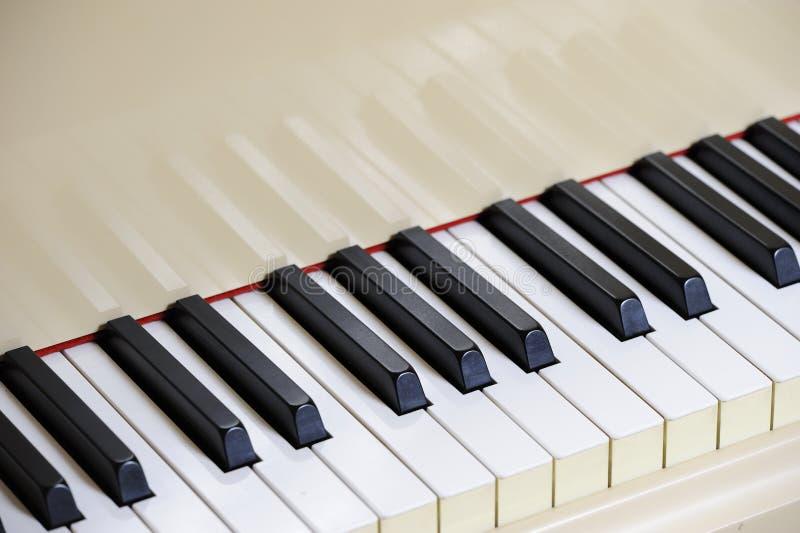 全部关键董事会钢琴 免版税图库摄影
