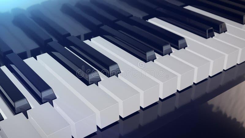 全部关键董事会钢琴 皇族释放例证