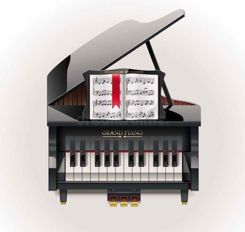 全部图标钢琴向量xxl 向量例证
