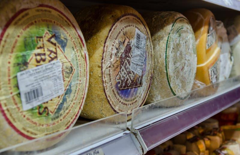 全部在耶路撒冷乳酪商店的乳酪 免版税库存照片