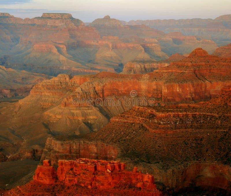 全部峡谷的黄昏 库存图片