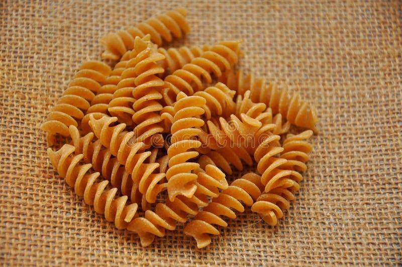 全部意大利面食的麦子 免版税库存照片