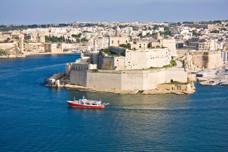 全部港口,瓦莱塔,马耳他的首都 免版税图库摄影