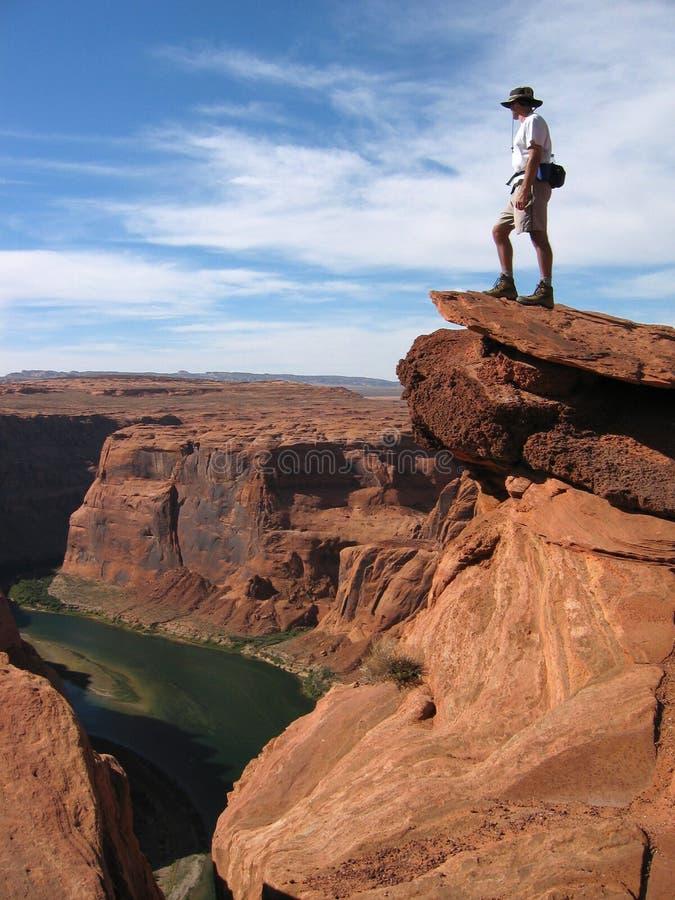 全部的峡谷俯视 库存照片