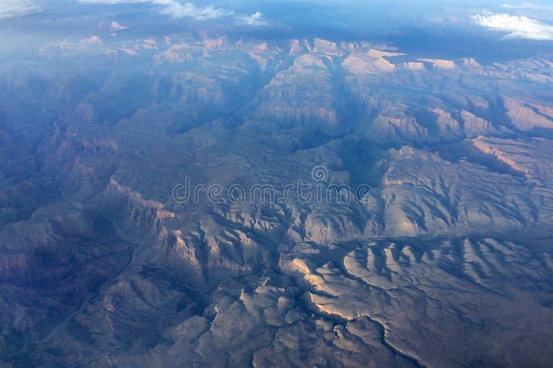 全部空中的峡谷 免版税库存图片