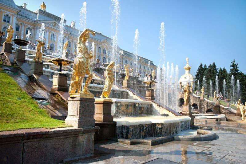 全部级联的喷泉 库存照片