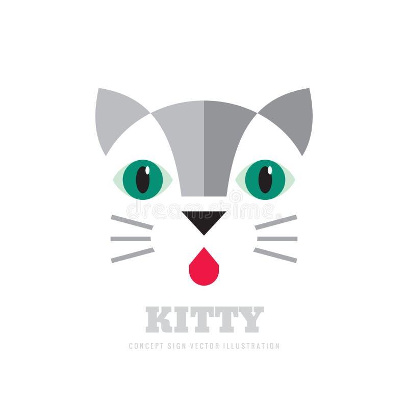 全部赌注-传染媒介商标概念例证 猫创造性的图表标志 设计要素例证图象向量 库存例证