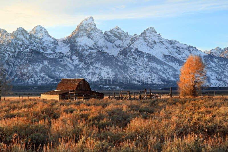 全部Teton的图标式的谷仓 免版税库存照片