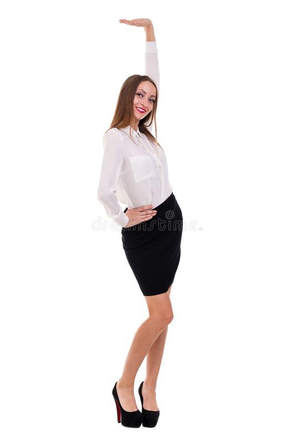全长美好的女商人身分 库存照片