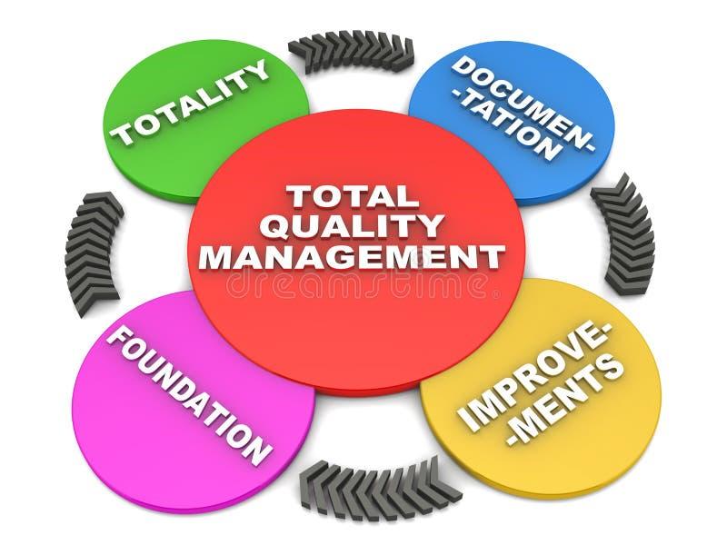 全面质量管理 向量例证